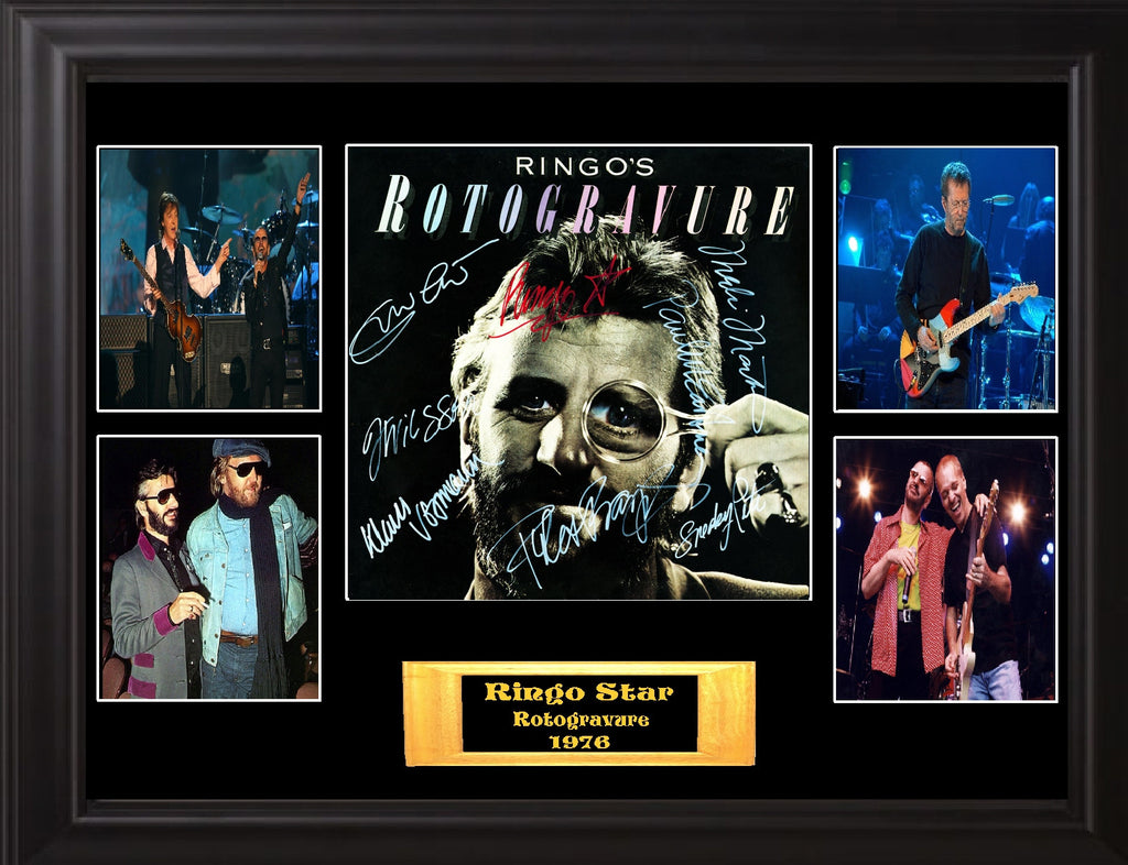 Ringo Starr Band Signed Rotogravure Album - Zion Graphic Collectibles