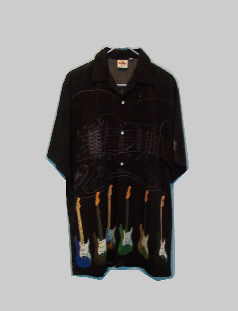 Hard Rock Cafe Fender guitar Shirt Dragonfly