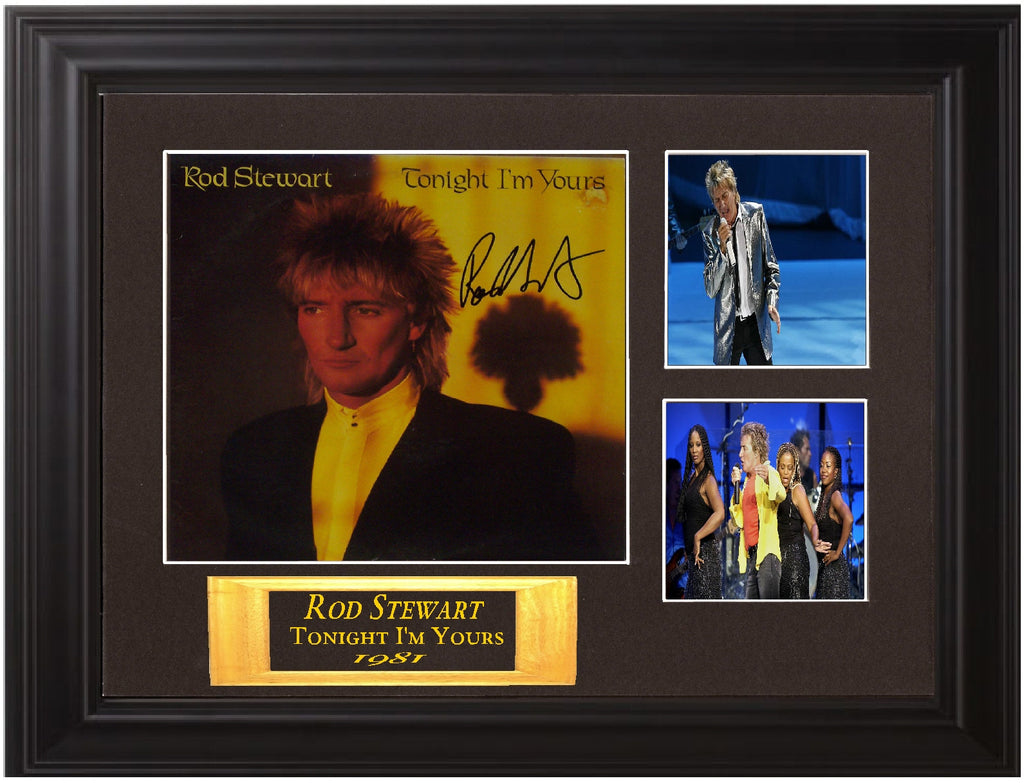 Rod Stewart Autographed lp - Zion Graphic Collectibles