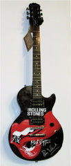 The Rolling Stones Autographed Gibson Epiphone in Custom Display Case