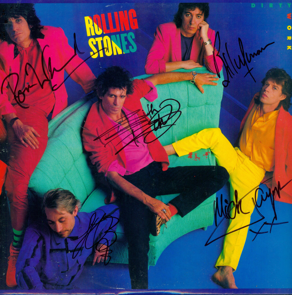 Rolling Stones Autographed lp - Zion Graphic Collectibles