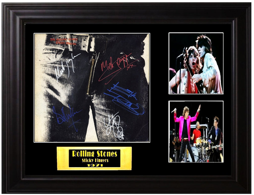 The Rolling Stones Band Signed Sticky Fingers Album