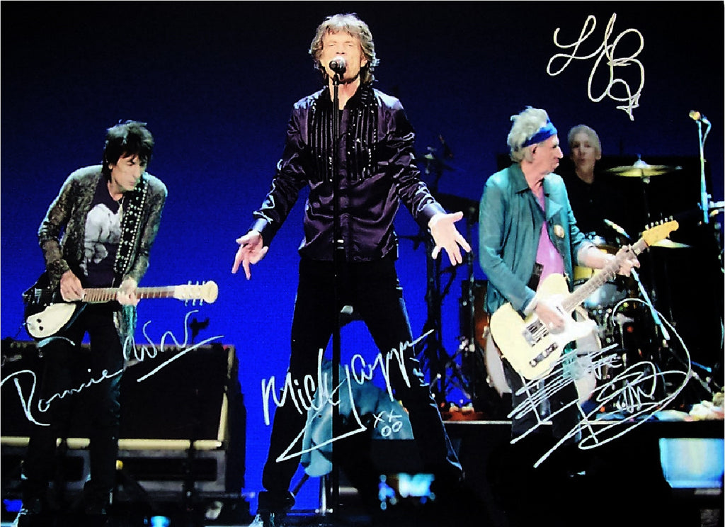 Rolling Stones Autographed Poster