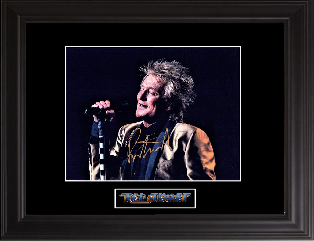 Rod Stewart Autographed Photo - Zion Graphic Collectibles