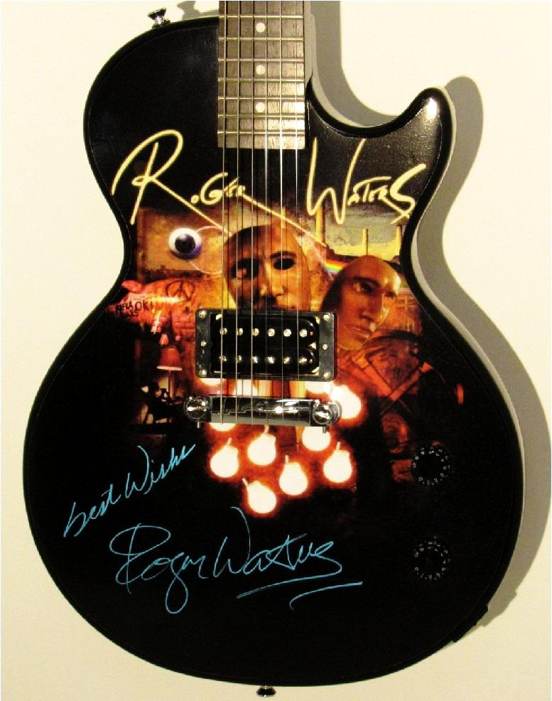 Roger Waters Autographed Guitar - Zion Graphic Collectibles