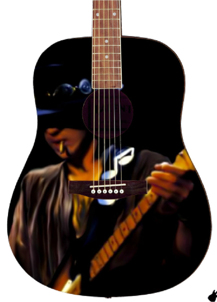 Stevie Ray Vaughan Custom Guitar - Zion Graphic Collectibles