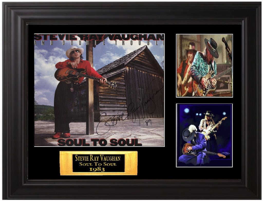 Stevie Ray Vaughan Double Trouble Signed Soul to Soul Lp - Zion Graphic Collectibles