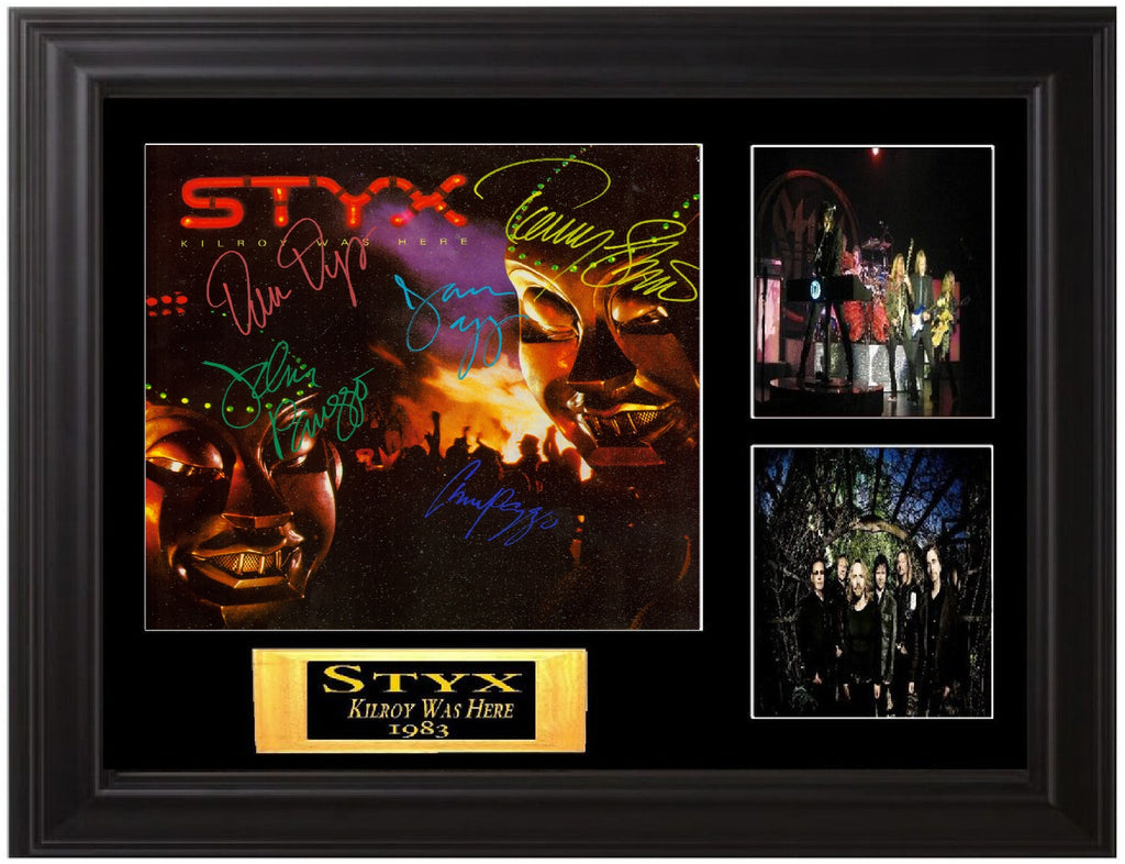 Styx Autographed LP - Zion Graphic Collectibles