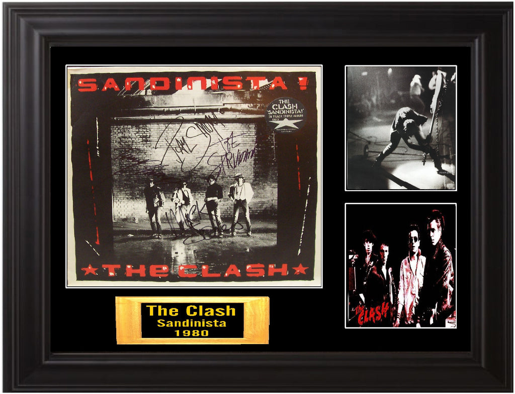 The Clash Band Signed sandonesta lp - Zion Graphic Collectibles