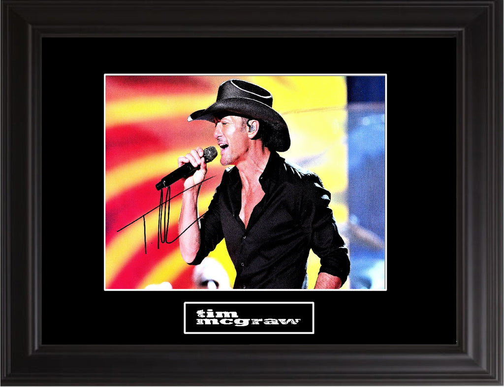 Tim Mcgraw Autographed Photo - Zion Graphic Collectibles