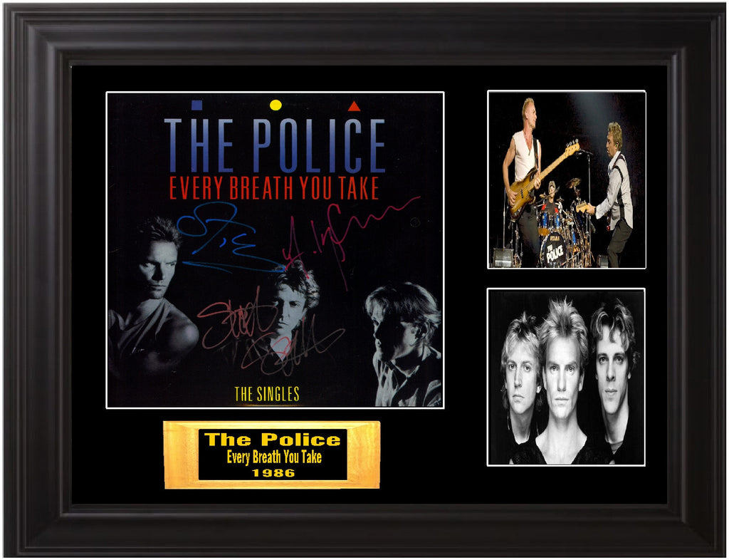 Police Band Autographed lp - Zion Graphic Collectibles