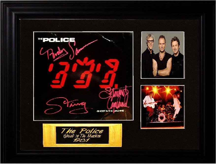 The Police Band Signed Ghost In The Machine Album - Zion Graphic Collectibles