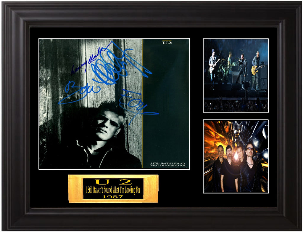 "U 2 Autographed Lp ""I Still Haven't Found What I'm Looking For"" - Zion Graphic Collectibles"
