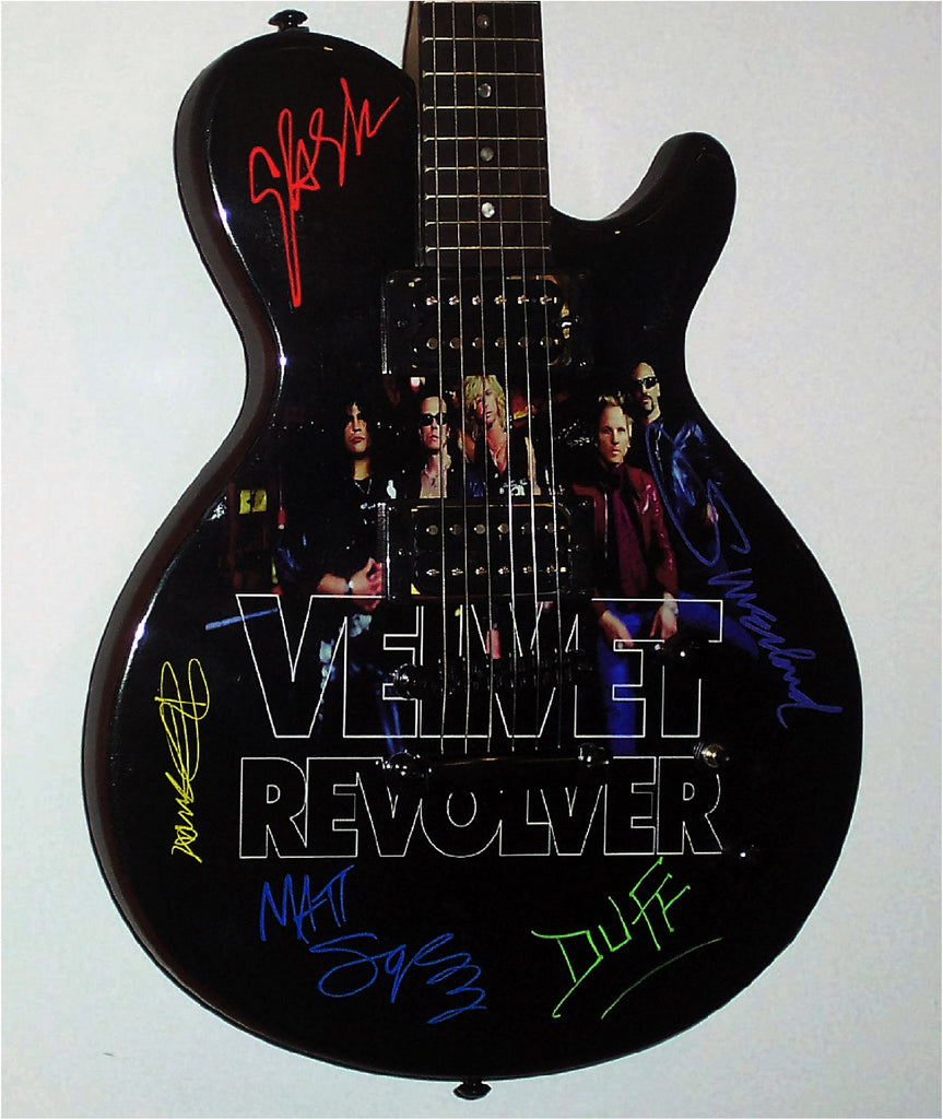 Velvet Revolver with Scott Weiland Autographed Guitar - Zion Graphic Collectibles