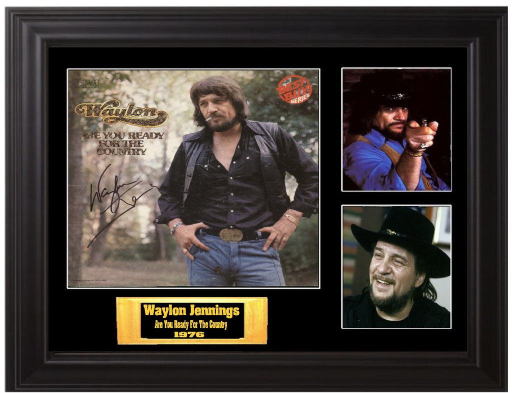 Waylon Jennings Autographed LP - Zion Graphic Collectibles