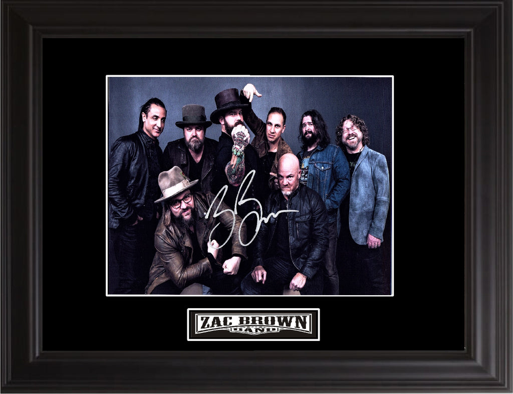 Zac Brown Band Autographed Photo - Zion Graphic Collectibles