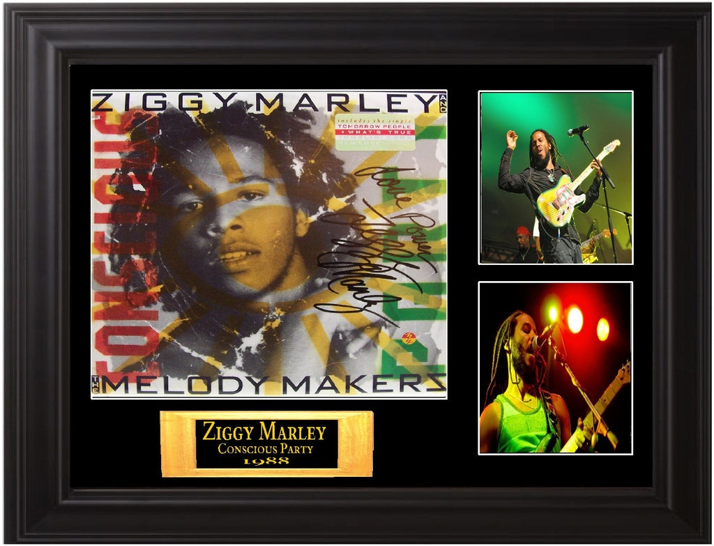 Ziggy Marley Autographed lp - Zion Graphic Collectibles
