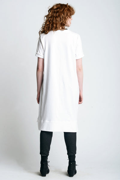 Midi Oversized Tee - Weighty Knit - Skinny Sweats - 1