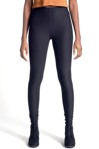 High Waist Leggings - Black - Skinny Sweats - 1