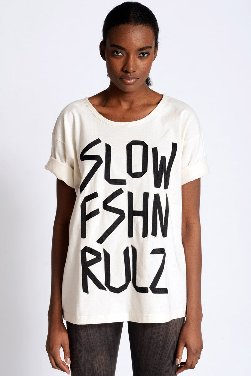 Slow Fashion Tee - Skinny Sweats - 1