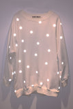 Reflective Polka Dot Sweatshirt - Cream - Skinny Sweats - 3