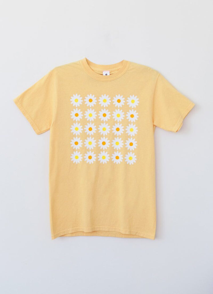 DAISY GRID Tee - Yellow