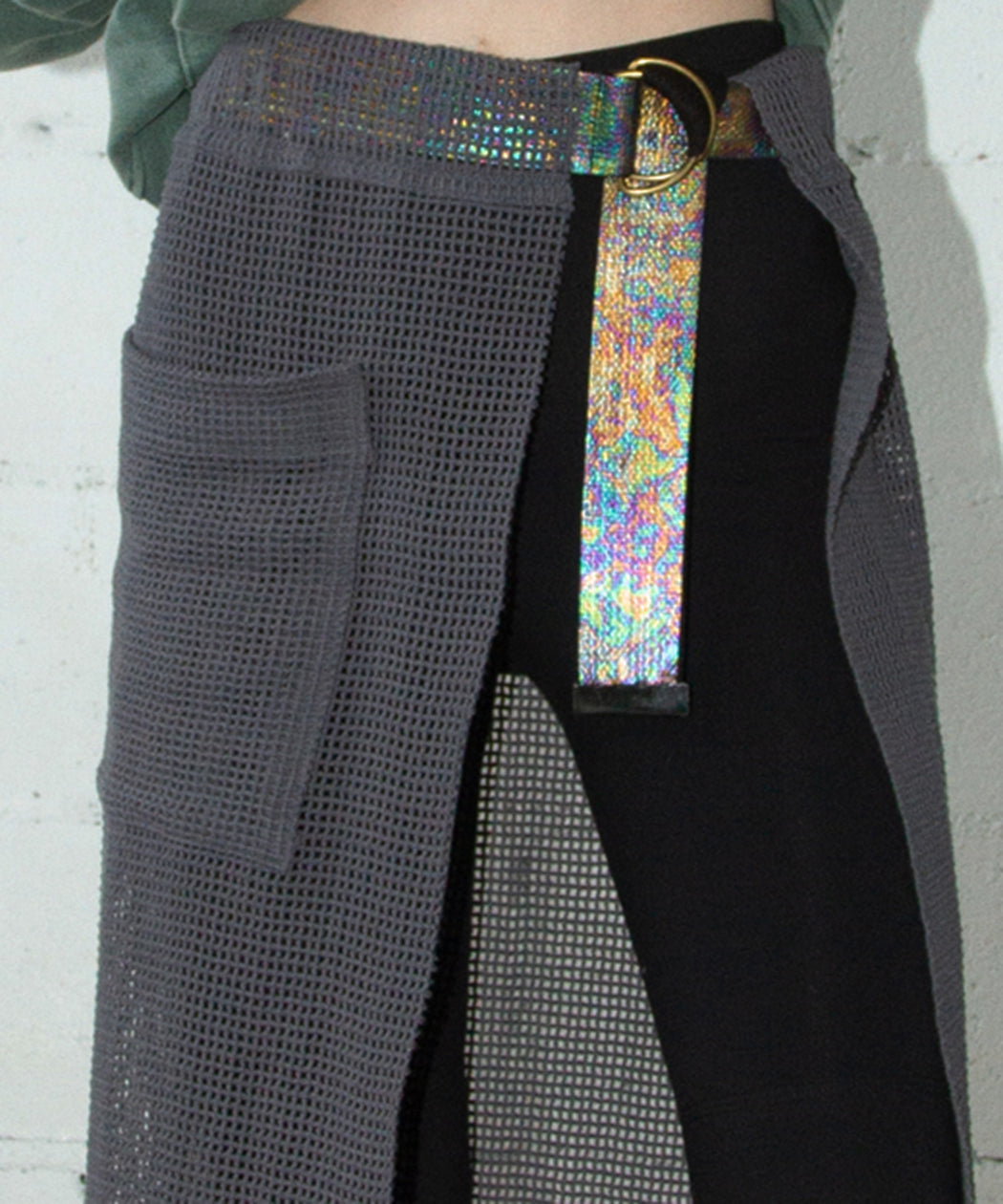 Iridescent Canvas Belt