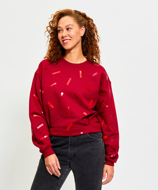 Red Confetti Paige Sweatshirt