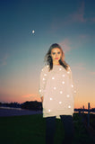 Reflective Polka Dot Sweatshirt - Cream - Skinny Sweats - 1