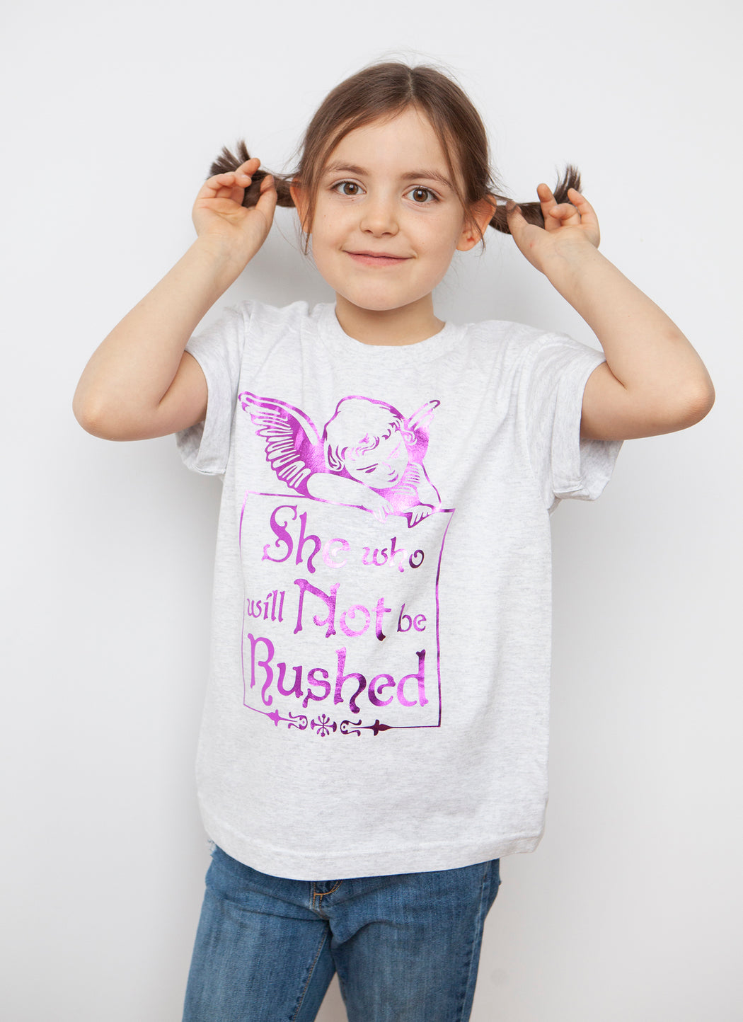She Who Will Not Be Rushed - Kids Tee
