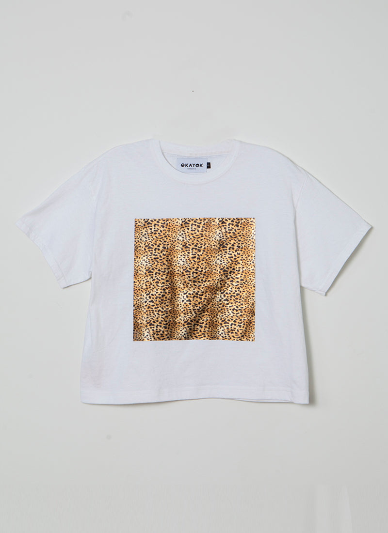 Leopard Square Truss Tee