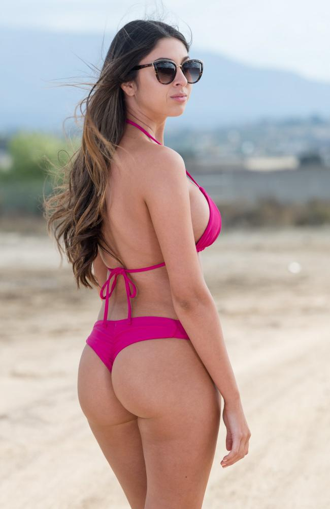 Frankie Bottom In Fuchsia
