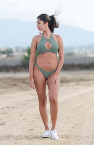 Key Hole Bikini Top In Sage