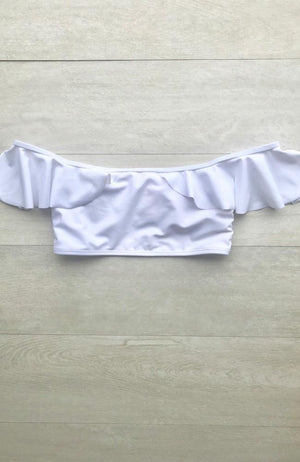 OTS White Bikini Top made by SULTRY SWIMWEAR®