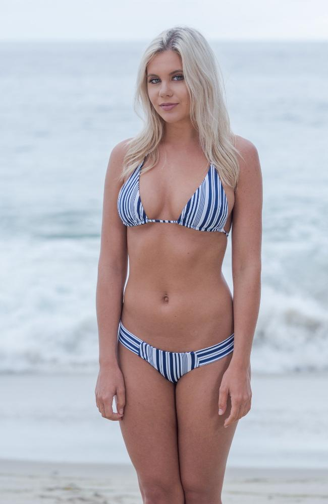 Our Kai Top in Navy/White Stripes made by SULTRY SWIMWEAR®