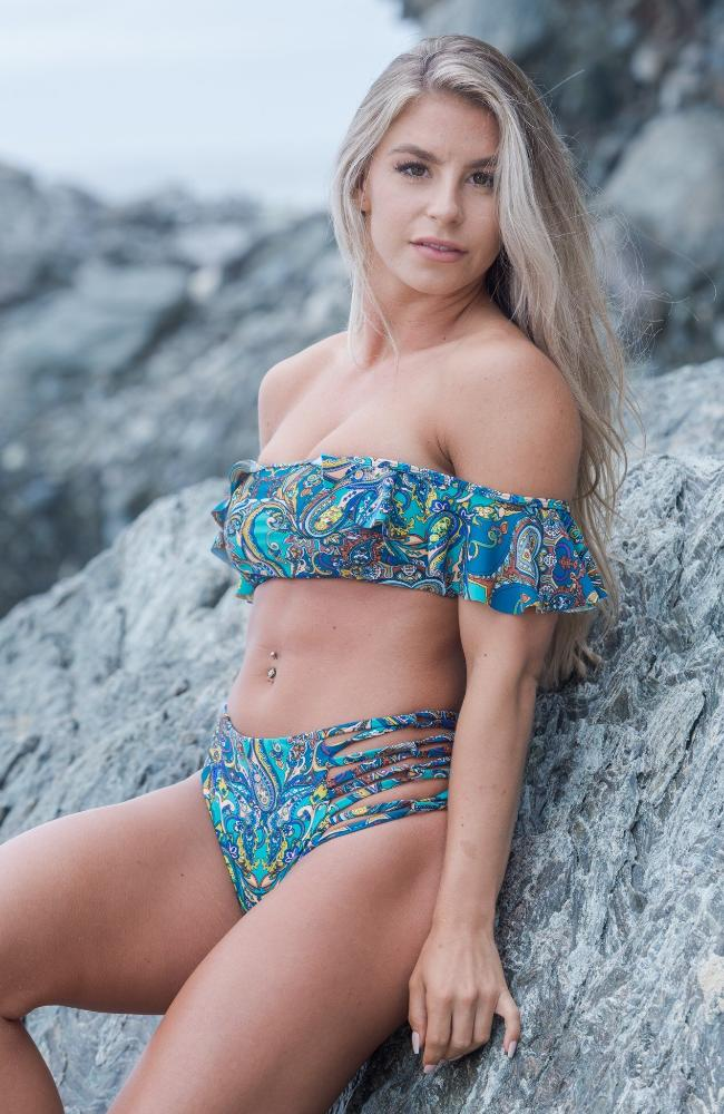 OTS Paisley Bikini Top made by SULTRY SWIMWEAR®