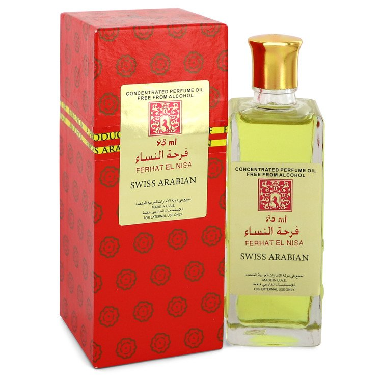 Ferhat El Nisa by Swiss Arabian 95ml Concentrated Perfume Oil Free From Alcohol (Unisex) 3.2 oz (Women)