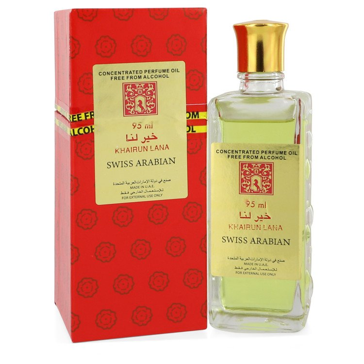 Khairun Lana by Swiss Arabian 95ml Concentrated Perfume Oil Free From Alcohol (Unisex) 3.2 oz (Women)