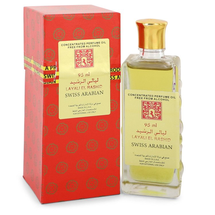 Layali El Rashid by Swiss Arabian 95ml Concentrated Perfume Oil Free From Alcohol (Unisex) 3.2 oz (Women)