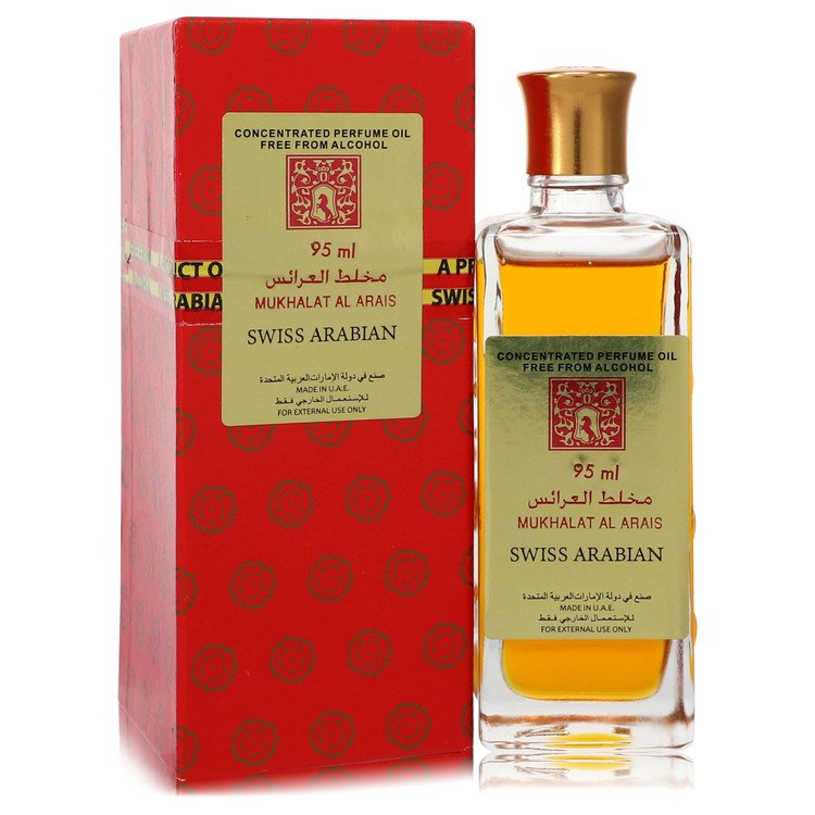 Mukhalat Al Arais by Swiss Arabian 95ml Concentrated Perfume Oil Free From Alcohol (Unisex) 3.2 oz (Men)