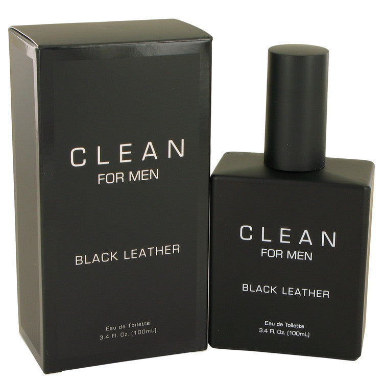 Clean Black Leather by Clean 100ml Eau De Toilette Spray 3.4 oz (Men)