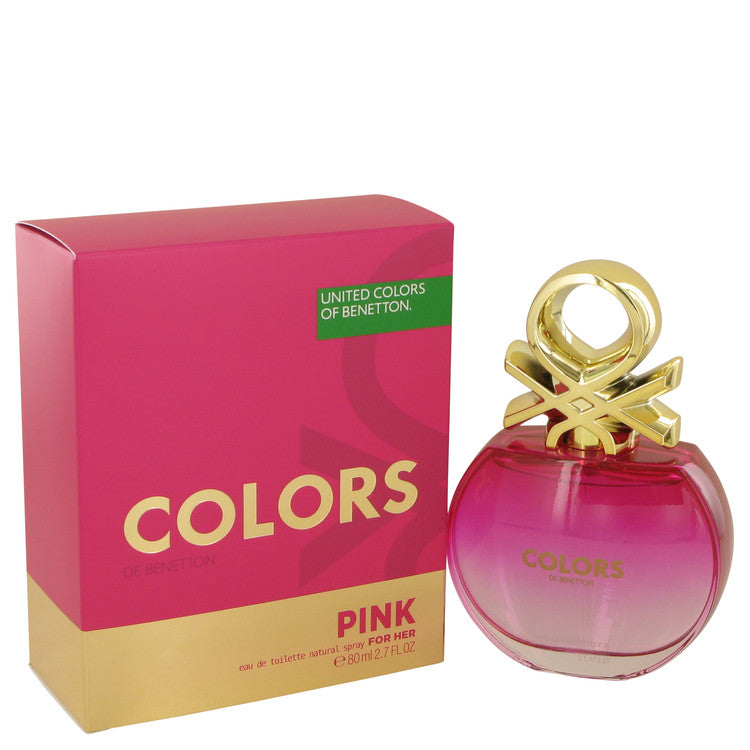 Colors Pink by Benetton 80ml Eau De Toilette Spray 2.7 oz (Women)