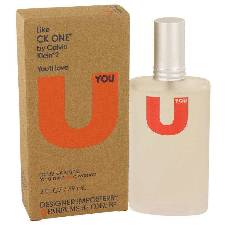 Designer Imposters U You by Parfums De Coeur 60ml Cologne Spray (Unisex) 2 oz (Women)