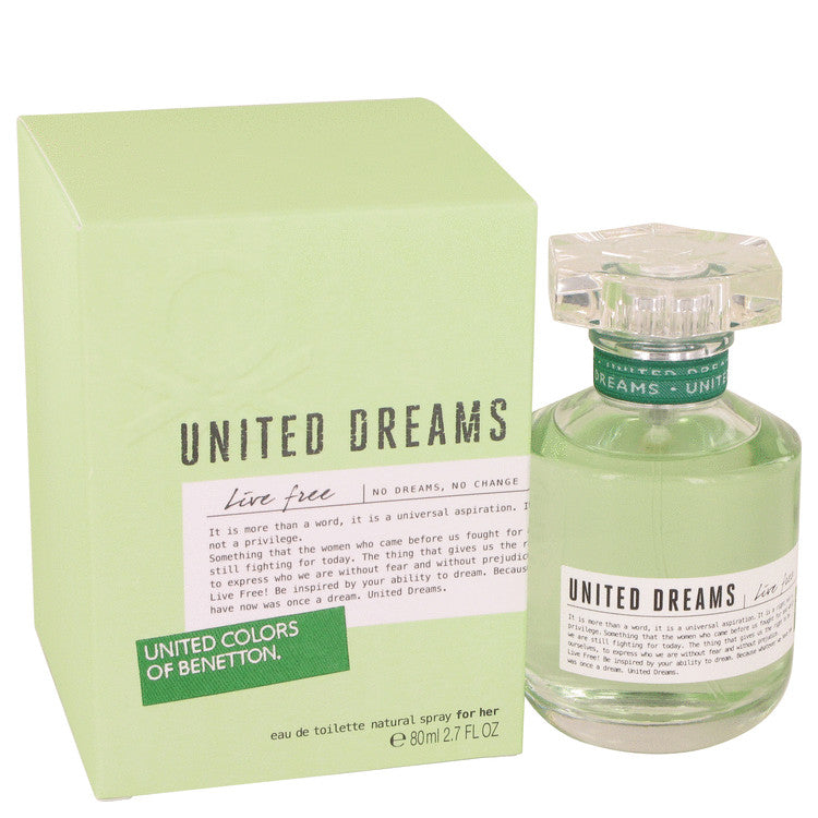 United Dreams Live Free by Benetton 80ml Eau De Toilette Spray 2.7 oz (Women)