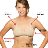 The Ultra-Light Travel Bra with Pockets - Nude
