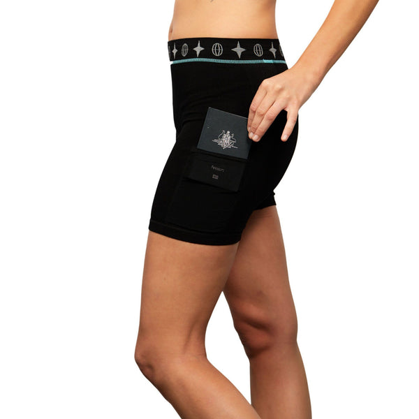 Travel Under-shorts - Women's Travel Trunks The Travel Bra Company Black
