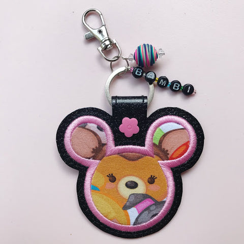 ITH Zipper Bag Charm Machine Embroidery Snaptab Snap Tab