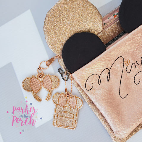 rose gold backpack keyring