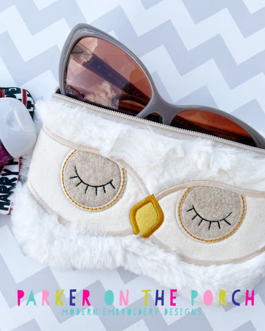 Digital Download- Owl Sunglass Top Zip Zipper Bag