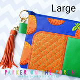 Digital Download- #5 Zipper - Trendsetter Top Zip Bag - in the hoop machine embroidery ITH pattern